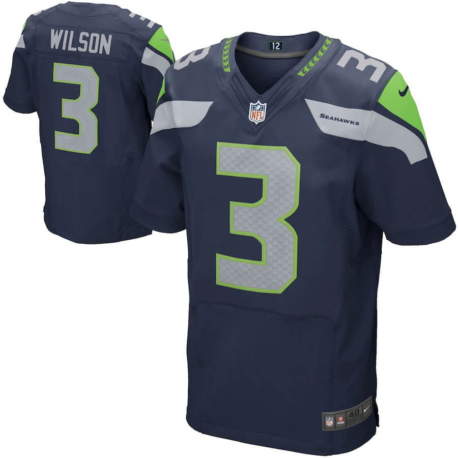 Men's Seattle Seahawks Custom Elite Jersey