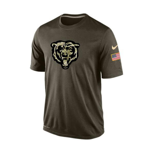 Men's Chicago Bears Salute To Service Nike Dri-FIT T-Shirt
